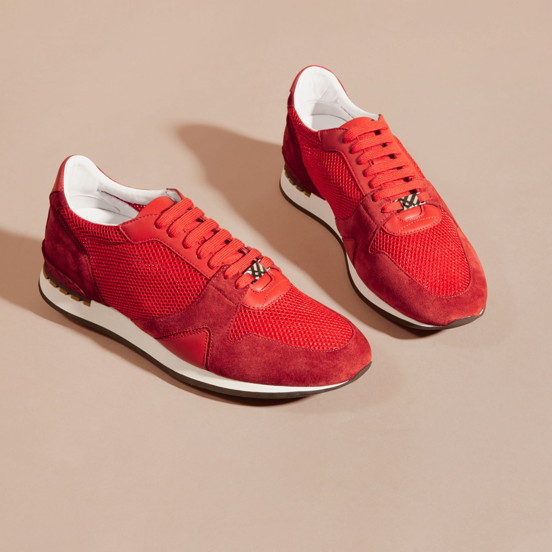 Bright rowenberry The Field Sneaker in Suede and Mesh Bright Rowenberry - gallery image 3