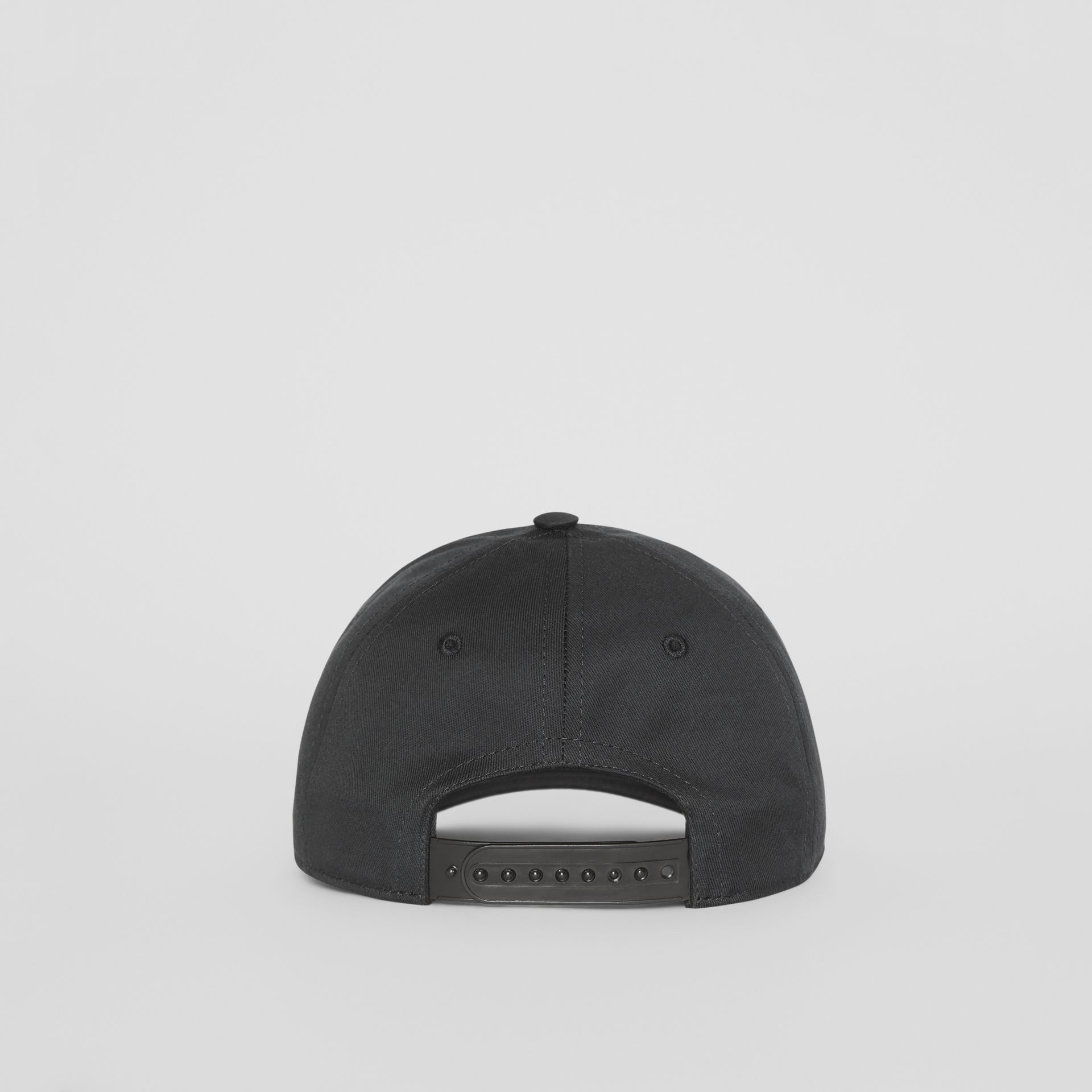 Logo Print Baseball Cap in Black | Burberry - gallery image 4