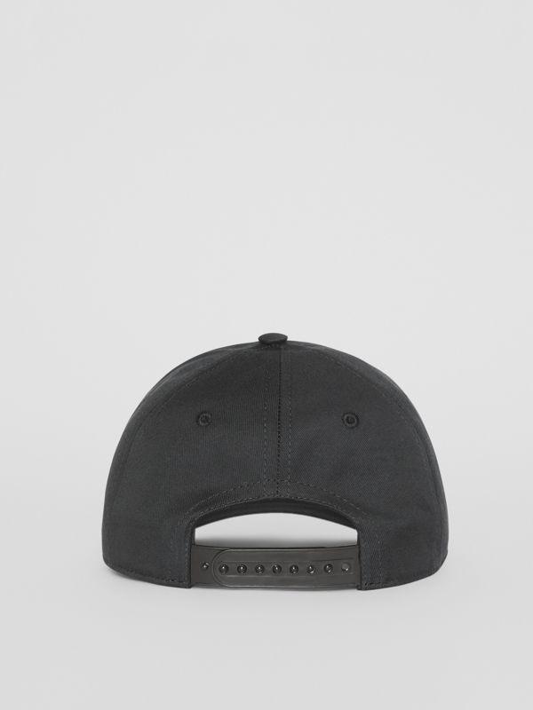 Logo Print Baseball Cap in Black | Burberry - cell image 3