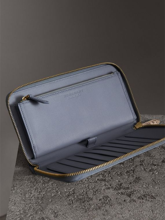 London Print Leather Ziparound Wallet in Multicolour - Men | Burberry United Kingdom - cell image 3