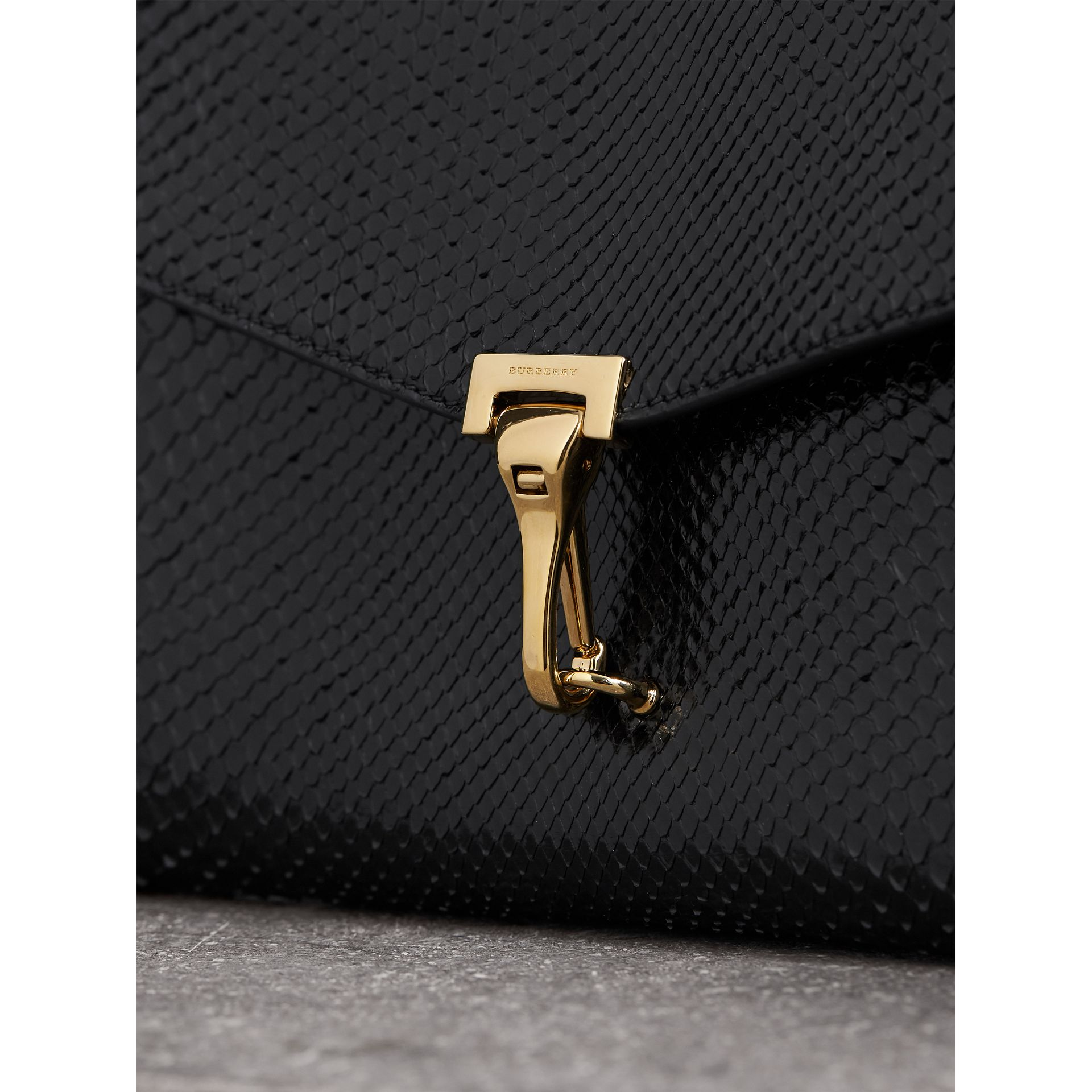 Small Python Crossbody Bag in Black - Women | Burberry - gallery image 1
