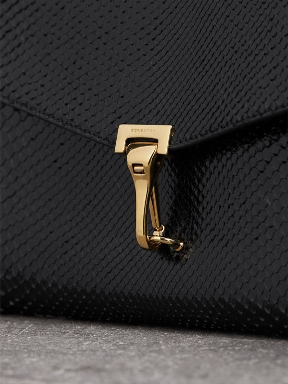 Small Python Crossbody Bag in Black - Women | Burberry - cell image 1