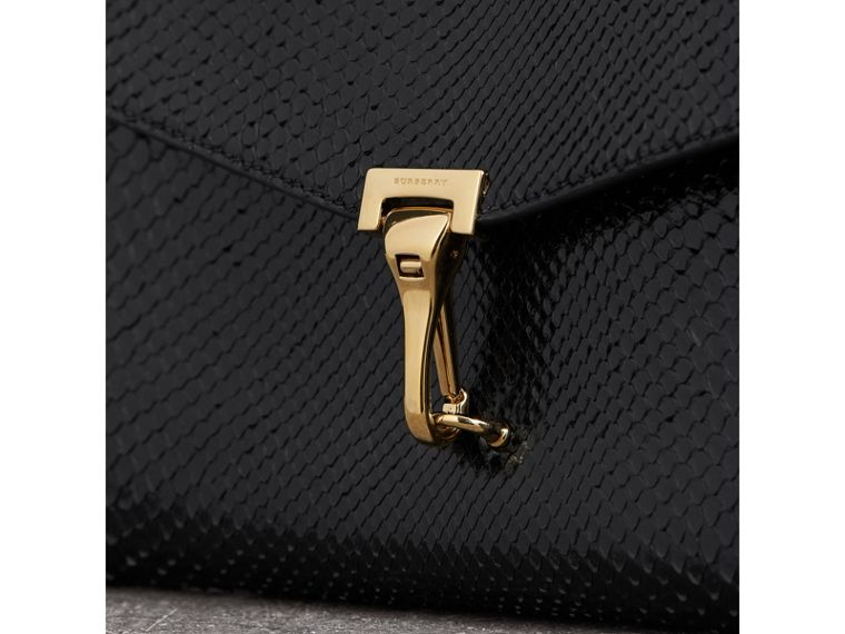 Small Python Crossbody Bag in Black - Women | Burberry United Kingdom - cell image 1