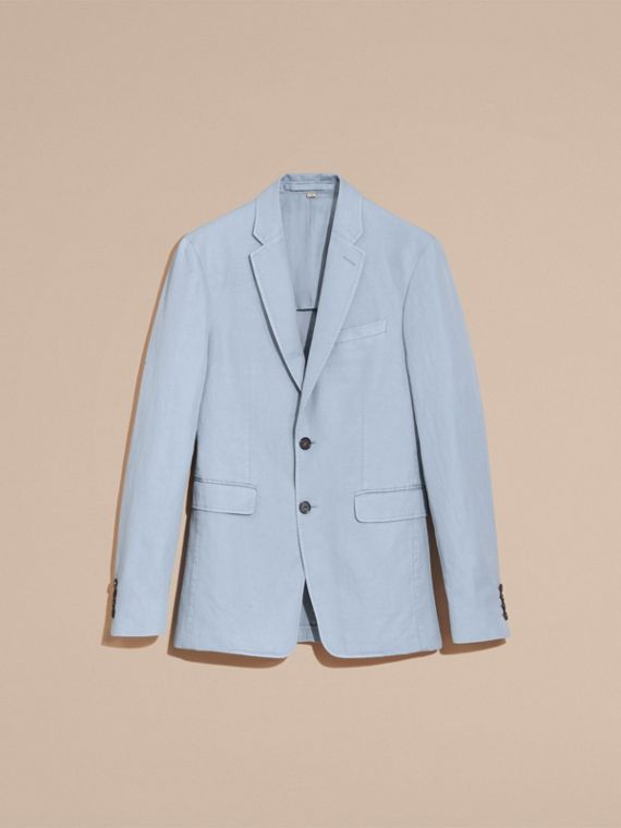 Slim Fit Cotton Linen Jacket - cell image 3