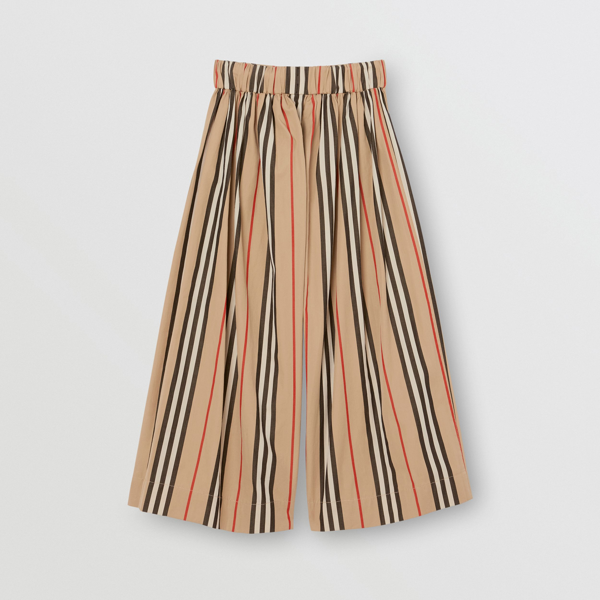 Icon Stripe Cotton Sailor Trousers in Archive Beige | Burberry - 3