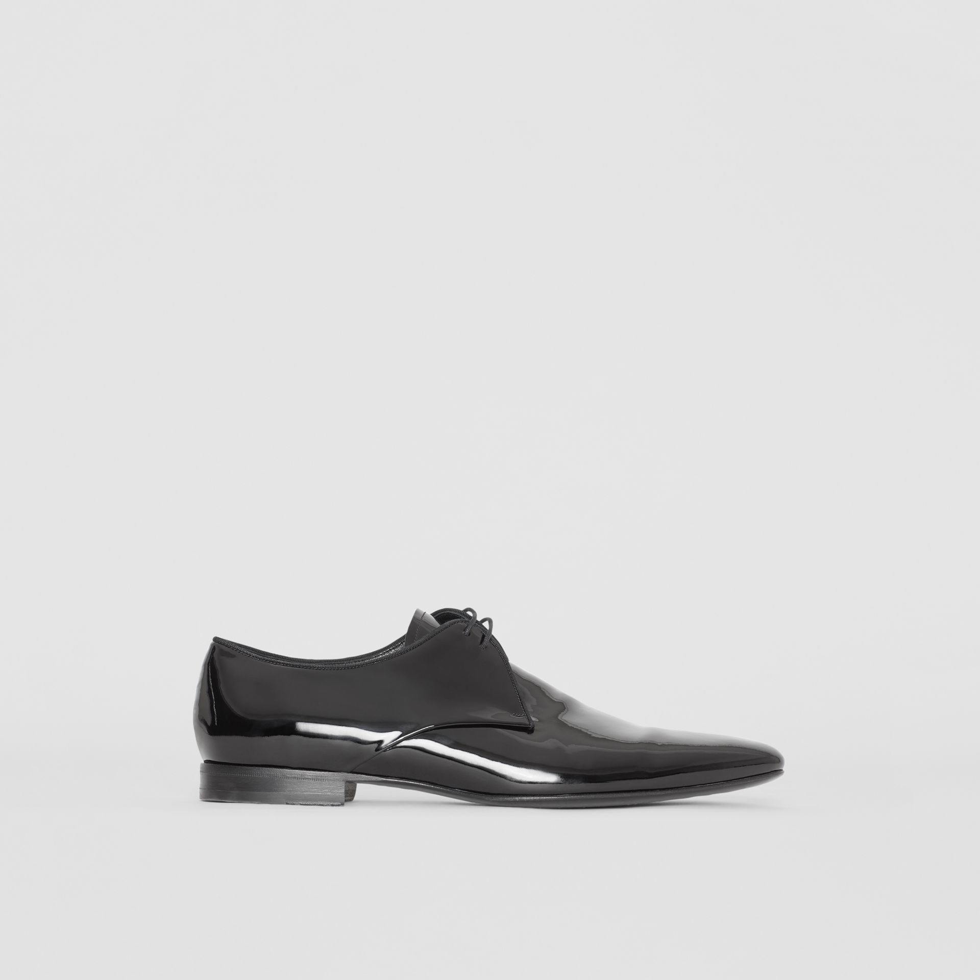 Polished Leather Lace-up Shoes in Black - Men | Burberry - gallery image 5