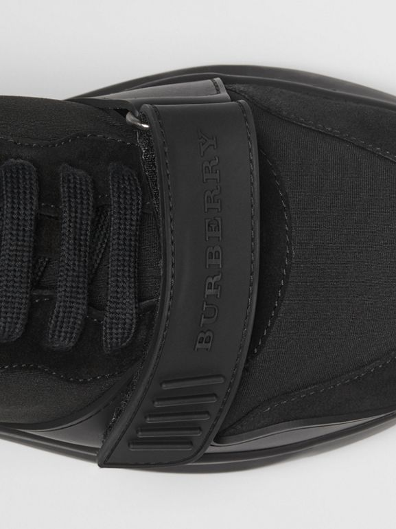 Suede, Neoprene and Leather Sneakers in Black - Men | Burberry - cell image 1