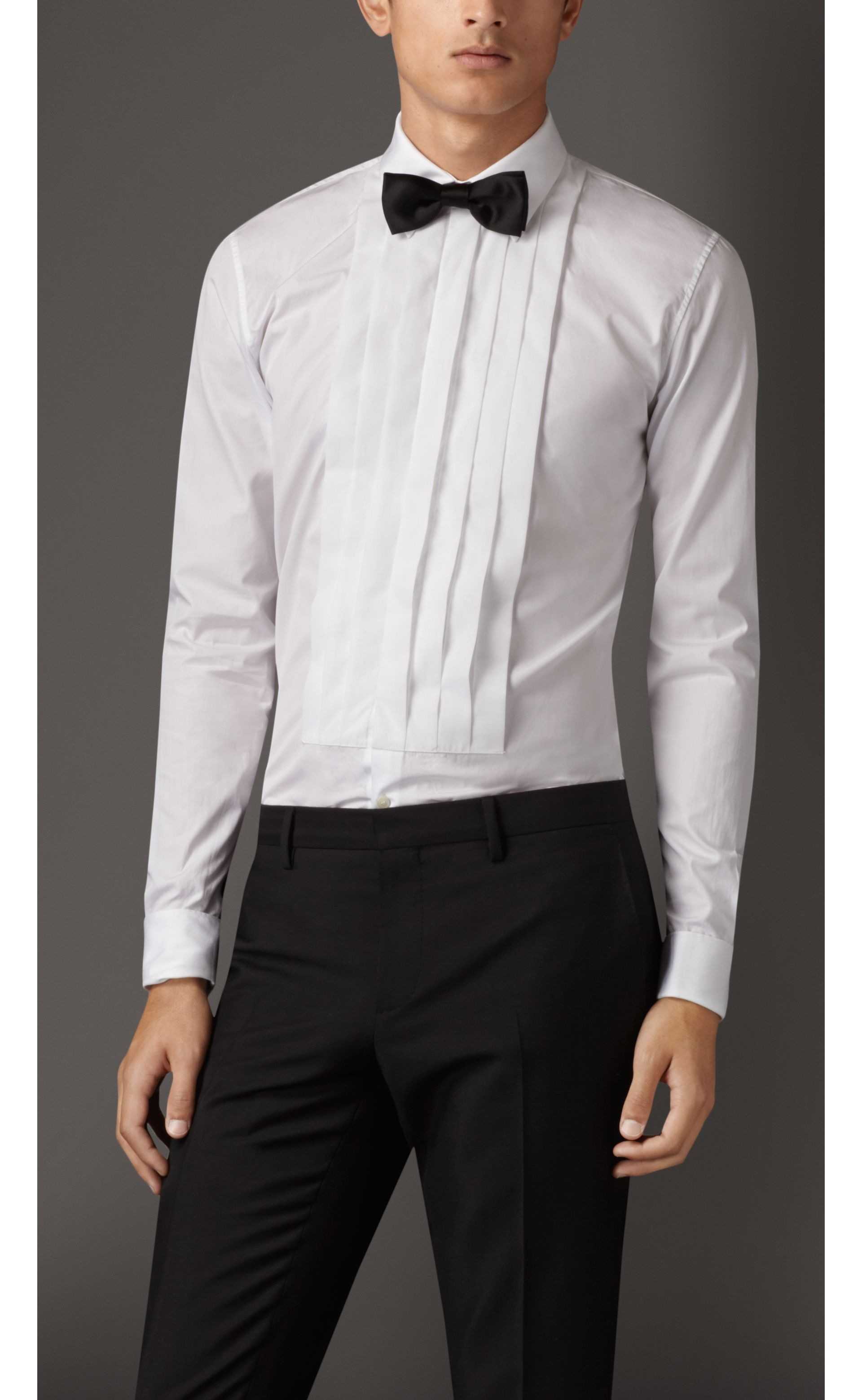 Slim Fit Cotton Poplin Dress Shirt in White - Men | Burberry - gallery image 0