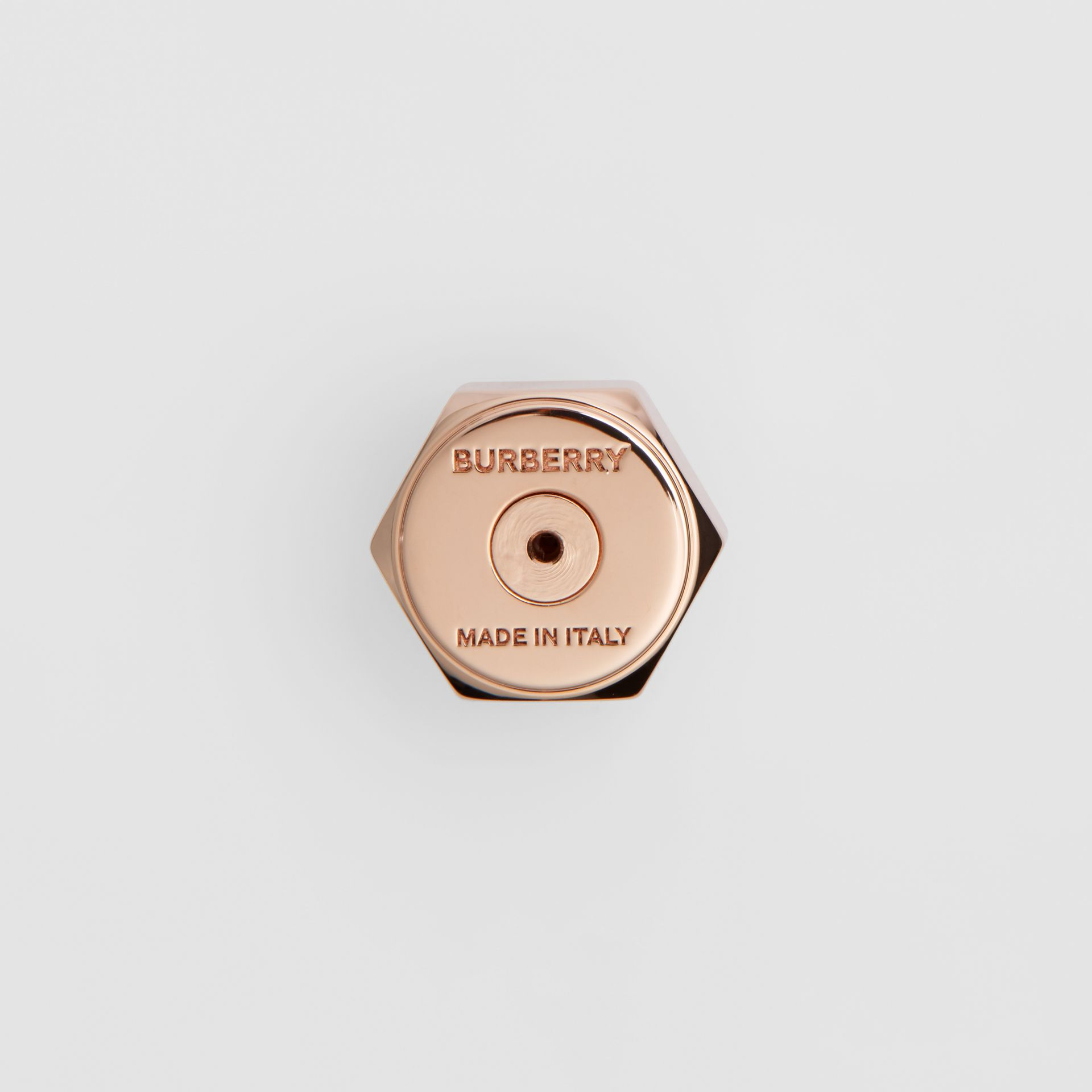 Crystal Charm Rose Gold-plated Nut and Bolt Earrings in Gold/palladium - Women | Burberry - gallery image 1