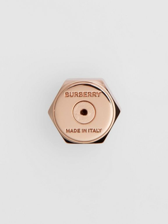 Crystal Charm Rose Gold-plated Nut and Bolt Earrings in Gold/palladium - Women | Burberry Singapore - cell image 1