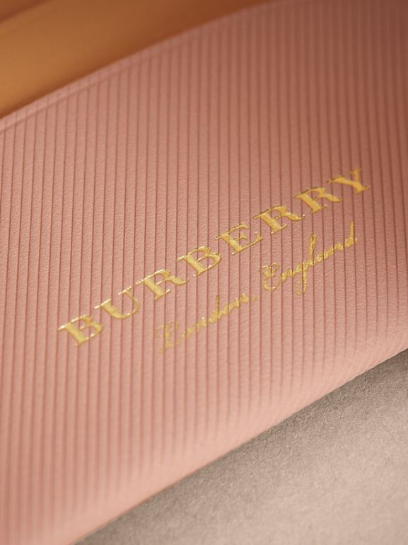 Two-tone Trench Leather Card Case in Ash Rose/pl Clemn | Burberry - cell image 1