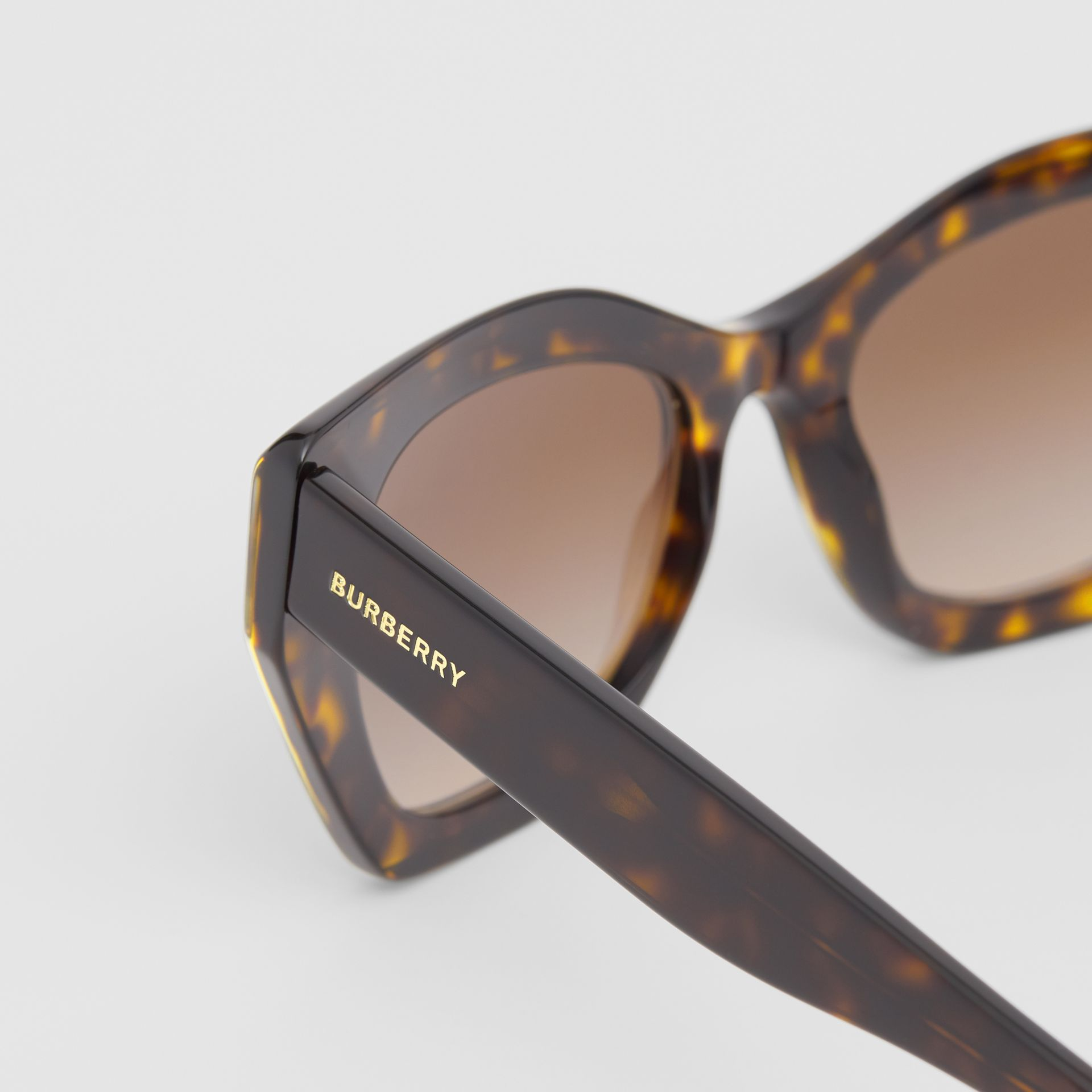 Butterfly Frame Sunglasses in Tortoiseshell - Women | Burberry - gallery image 1