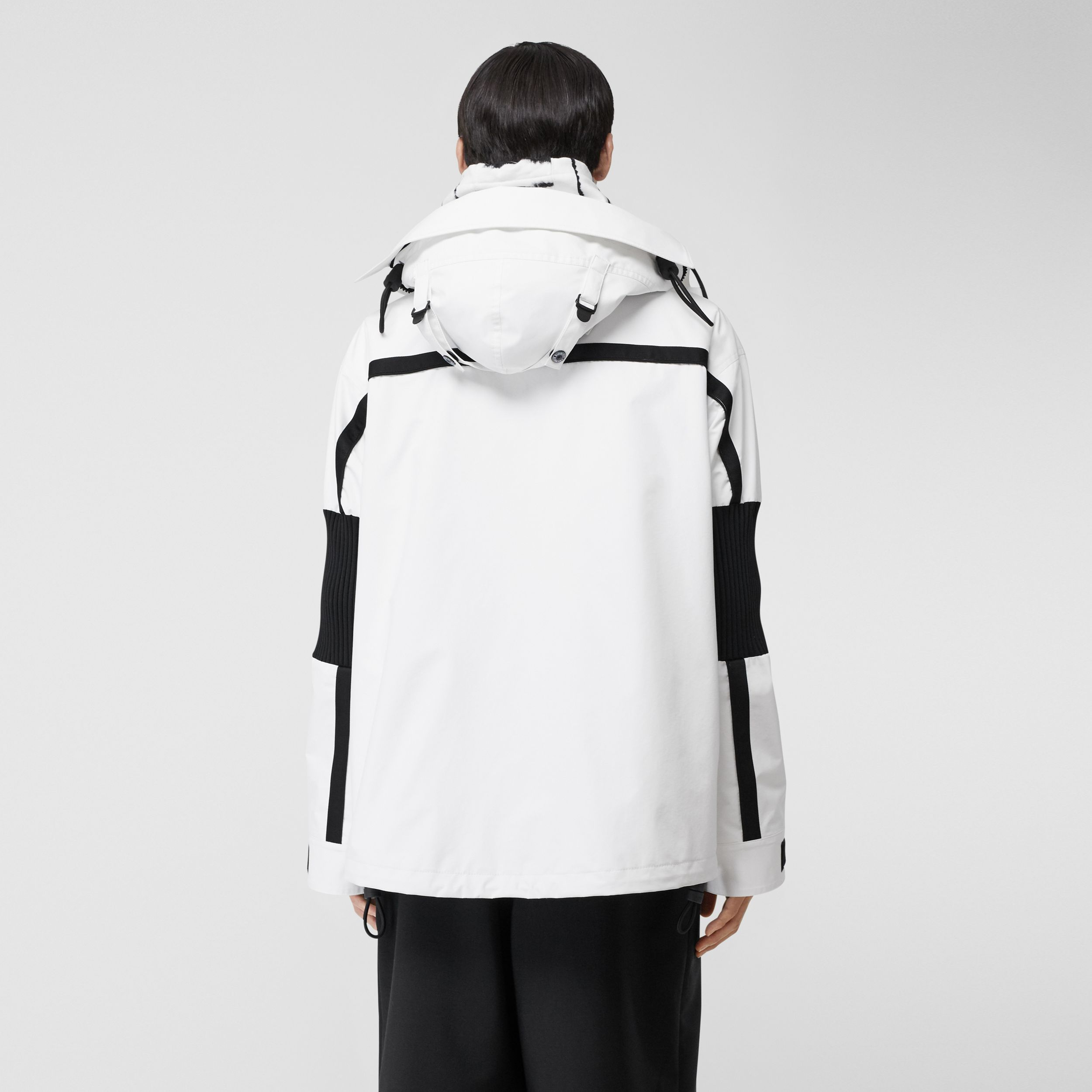 Globe Graphic Nylon Reconstructed Track Jacket in Optic White - Men | Burberry - 3