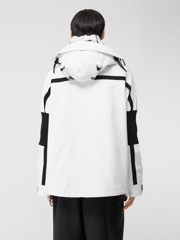 Globe Graphic Nylon Reconstructed Track Jacket in Optic White | Burberry - cell image 2