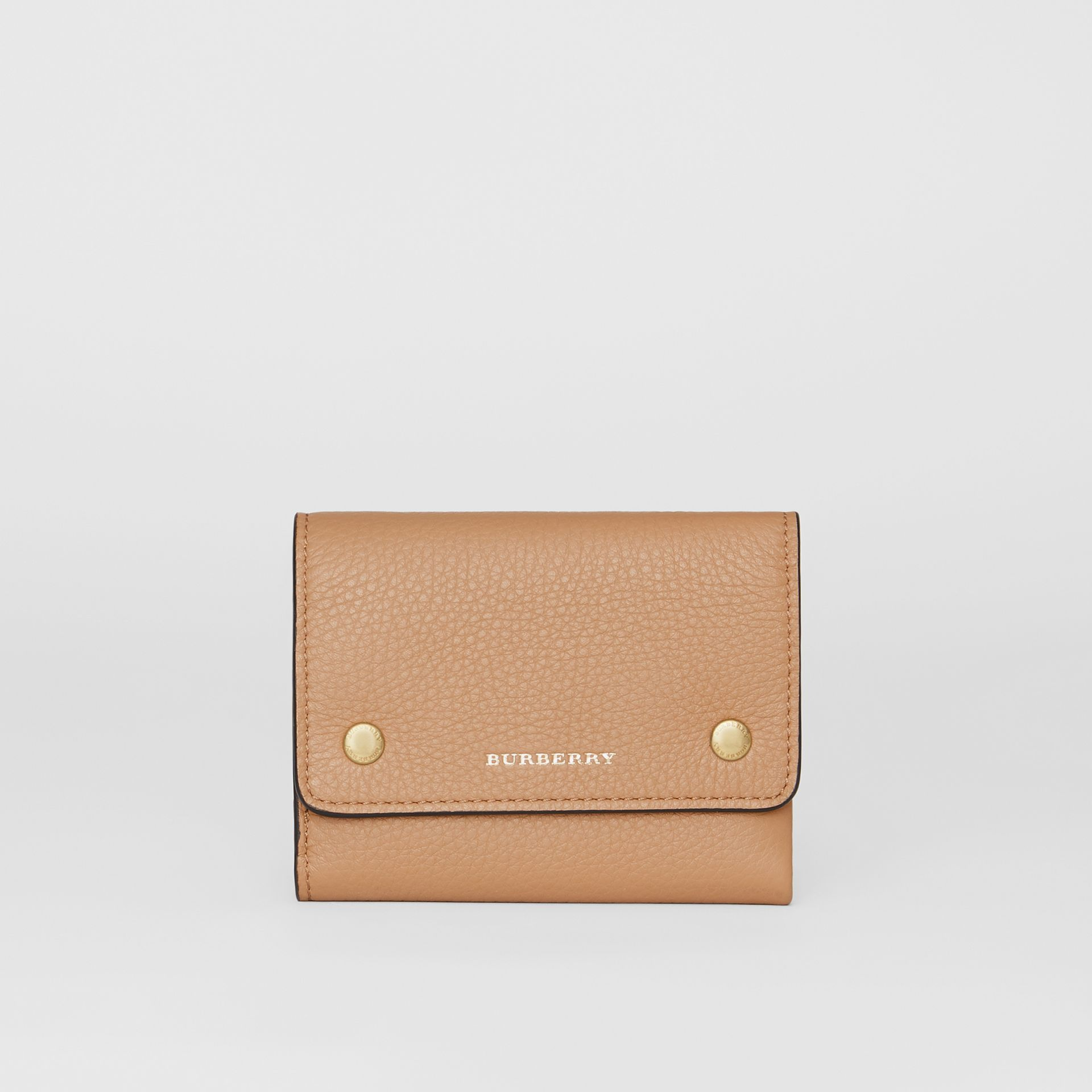 Small Leather Folding Wallet in Light Camel - Women | Burberry - gallery image 2