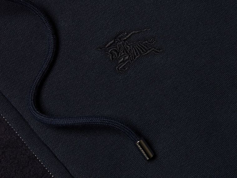 Hooded Cotton Jersey Top Navy - cell image 1