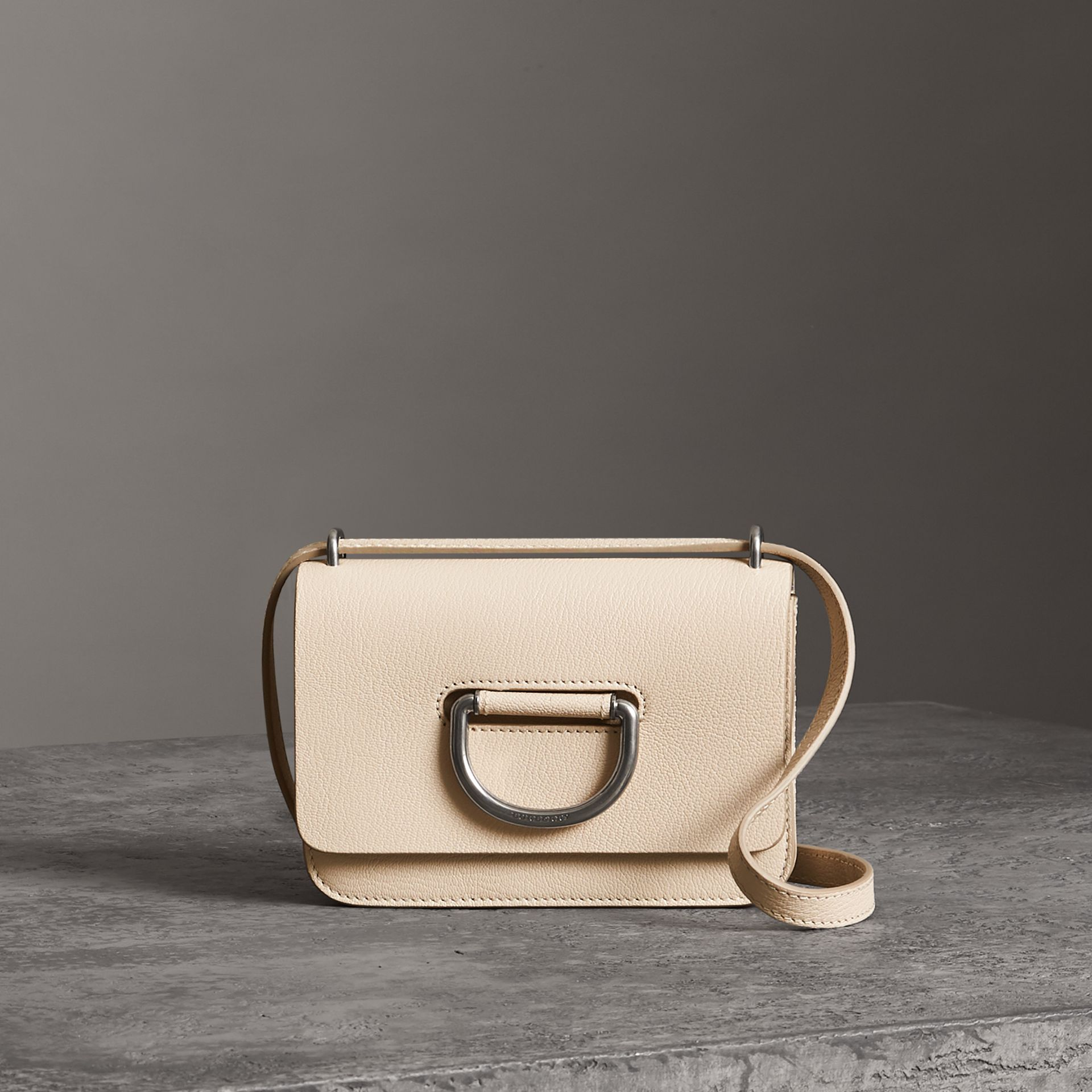The Mini Leather D-Ring Bag in Stone - Women | Burberry Australia - gallery image 0