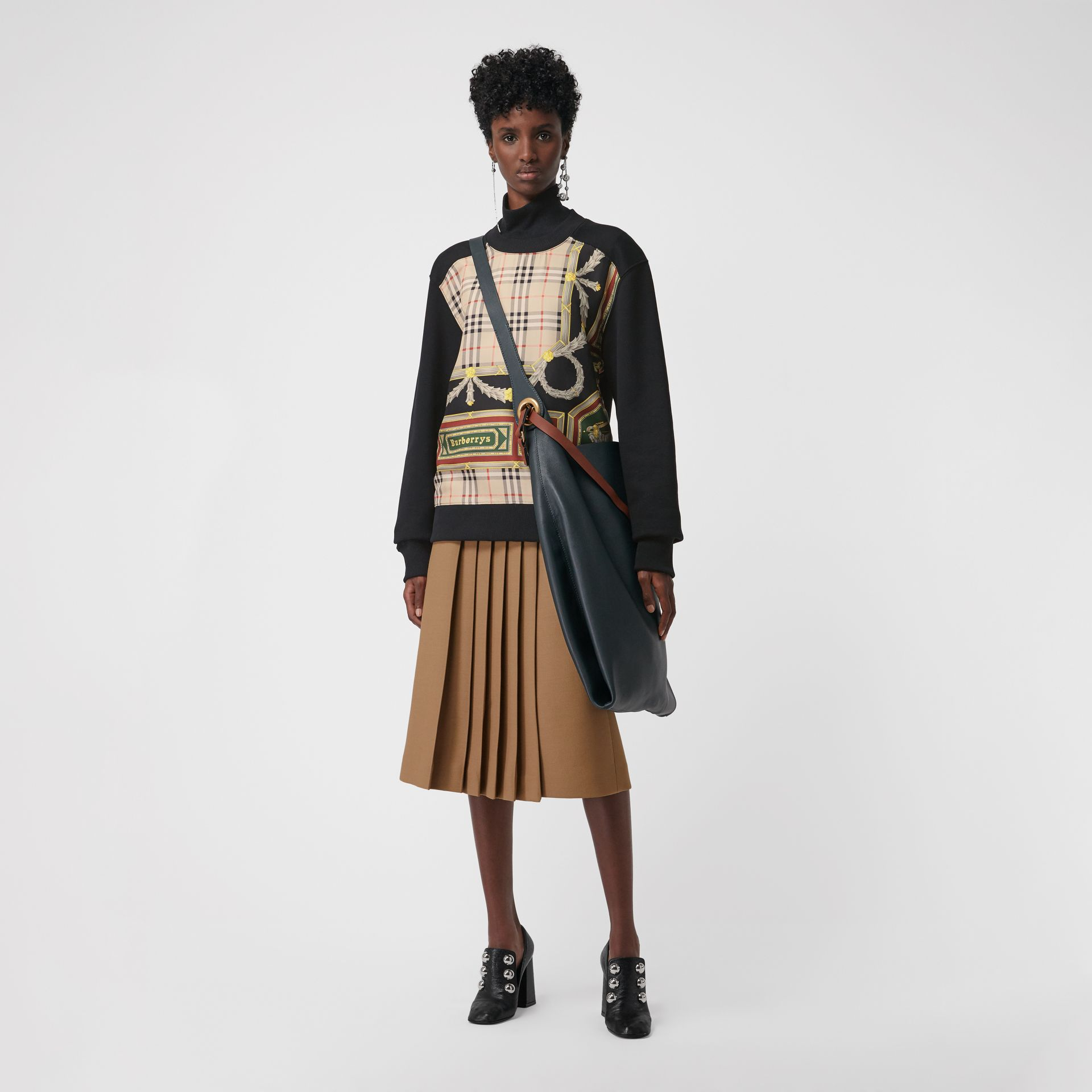 Wool Silk Kilt in Camel - Women | Burberry - gallery image 0