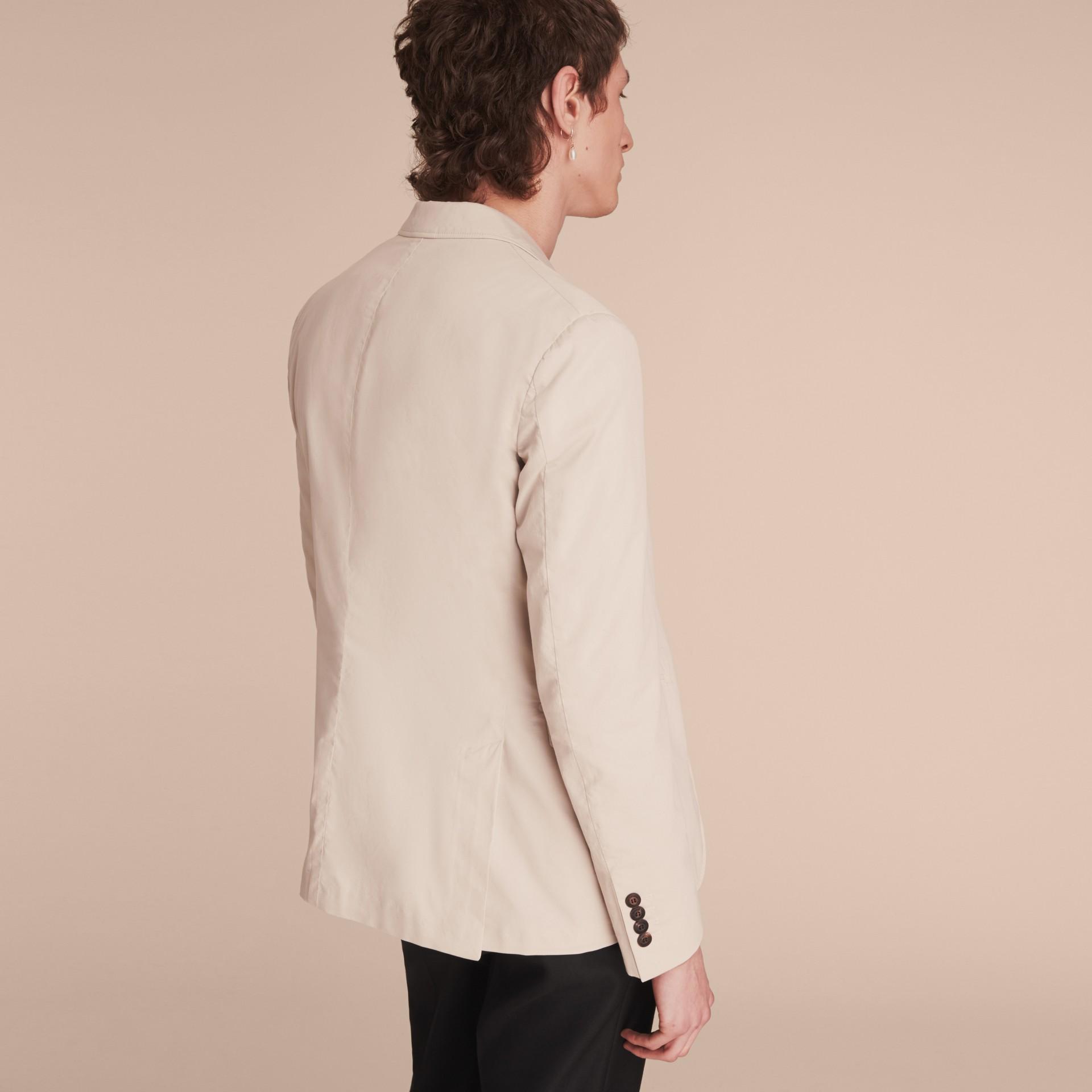 Slim Fit Stretch-cotton Blazer Sand - gallery image 3