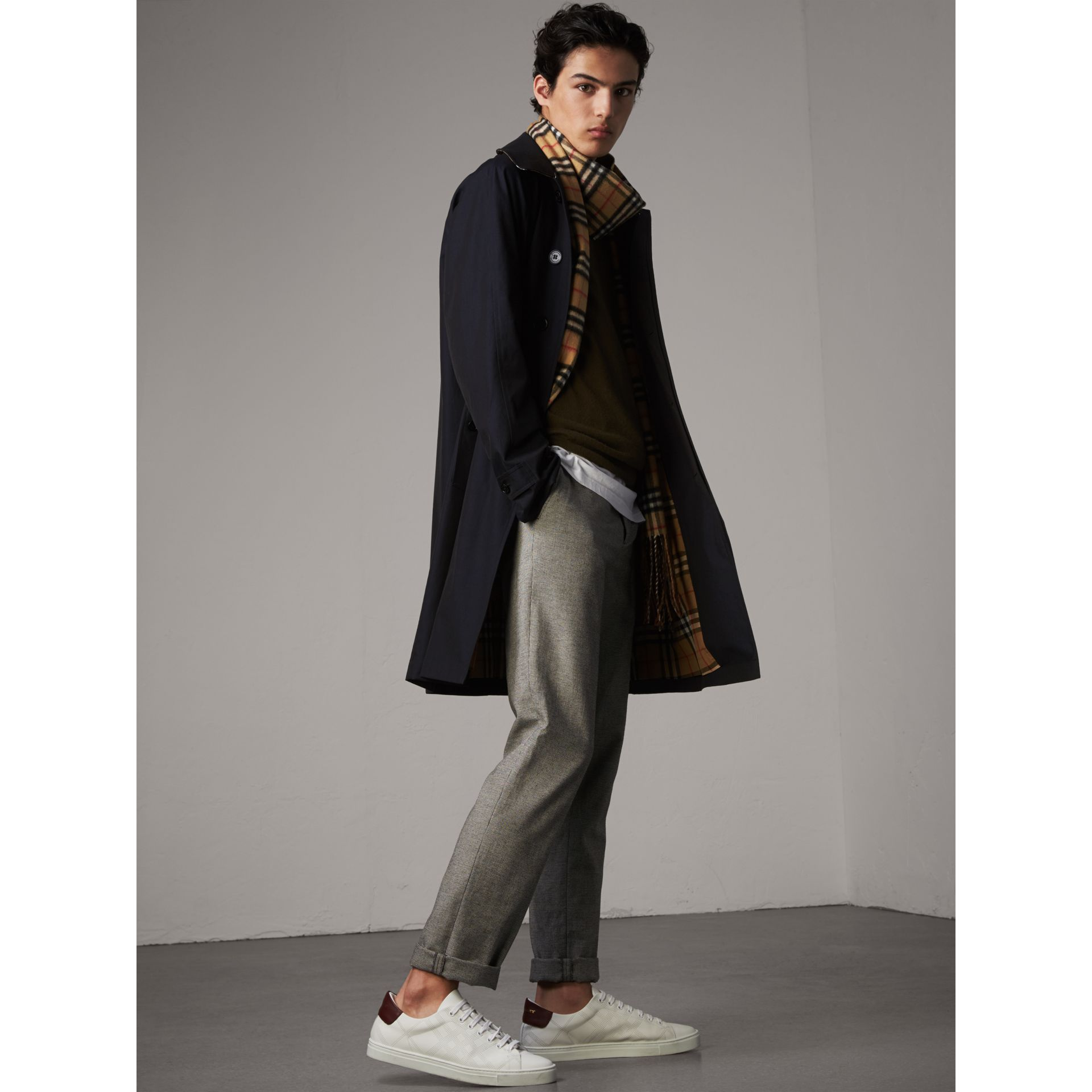 The Camden – Long Car Coat in Blue Carbon - Men | Burberry - gallery image 1