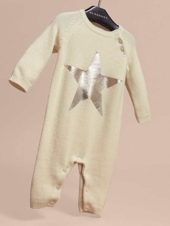 Star Print Cashmere Jumpsuit - cell image 2