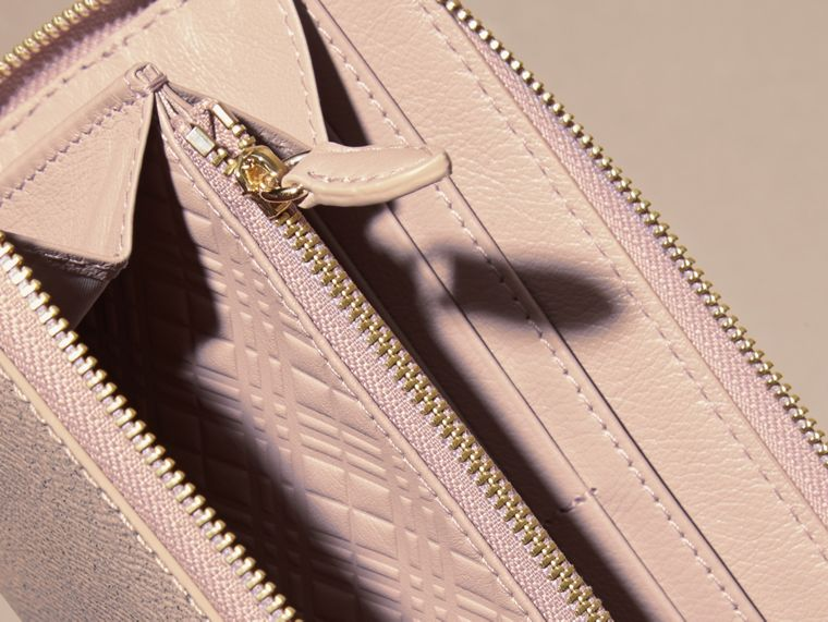 Glitter Patent London Leather Ziparound Wallet in Pale Orchid - cell image 4