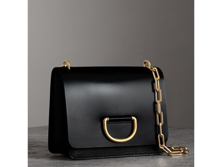 The Small Leather D-ring Bag in Black - Women | Burberry - cell image 4