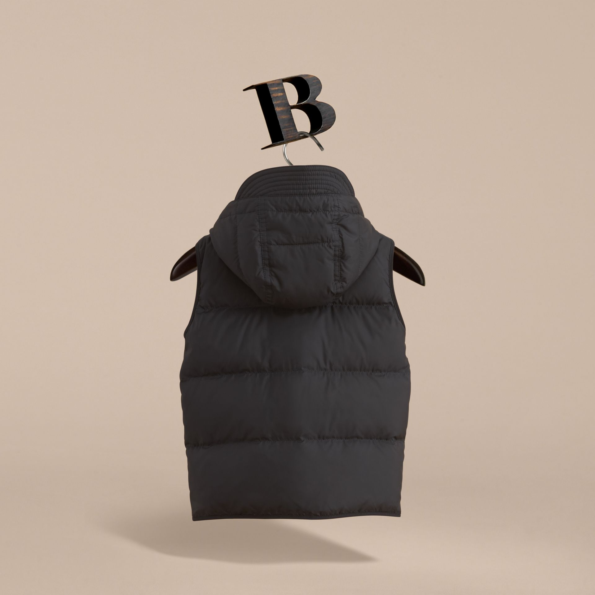 Down-filled Hooded Gilet in Black - Boy | Burberry - gallery image 4