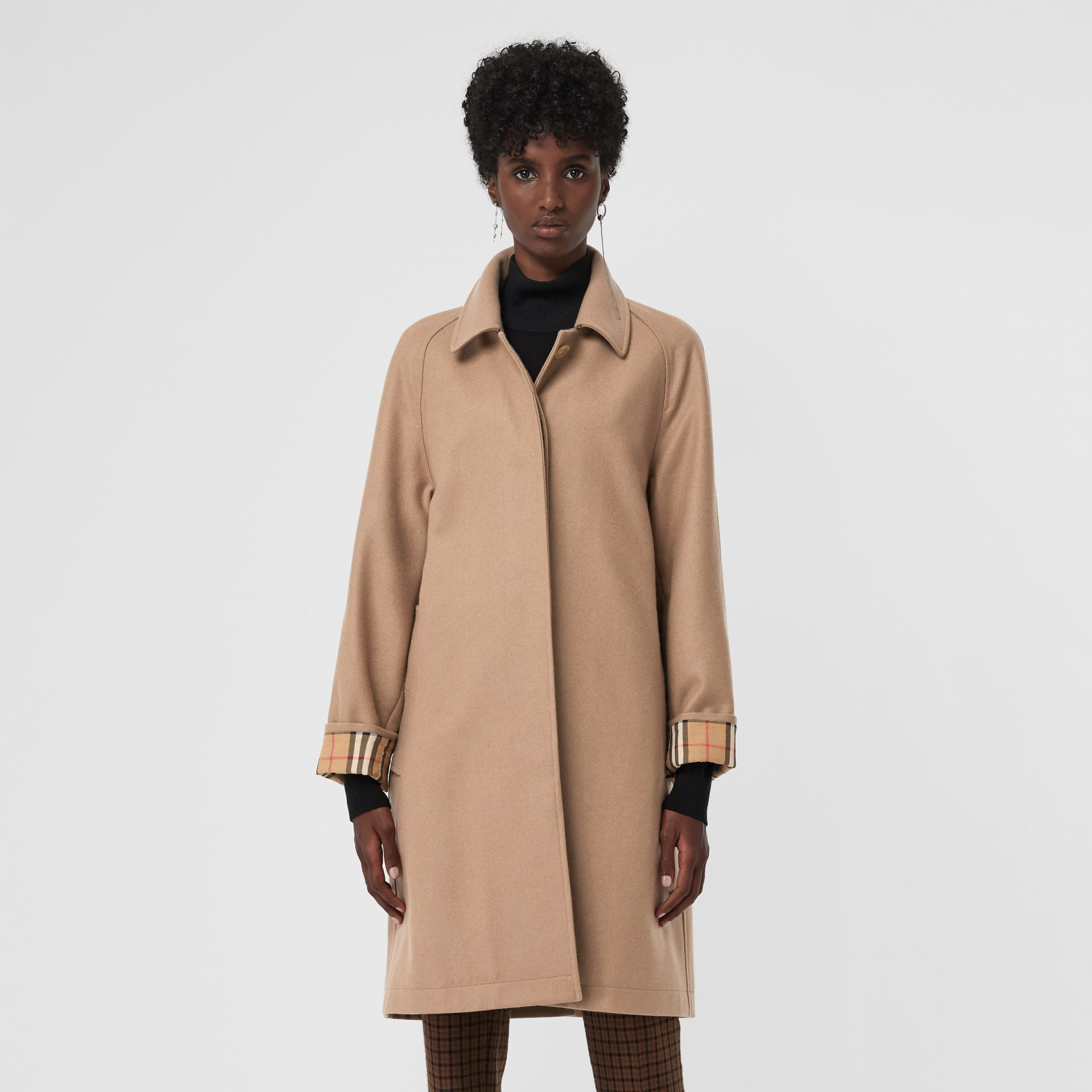 Cashmere Car Coat in Camel - Women | Burberry - gallery image 5