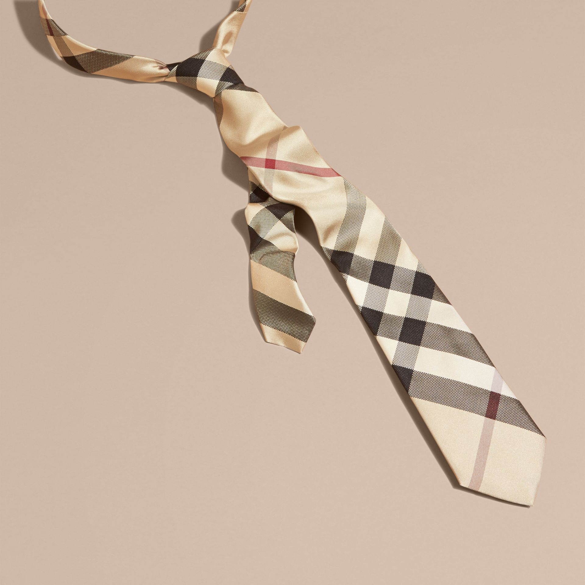 New classic check Modern Cut Check Silk Tie - gallery image 1