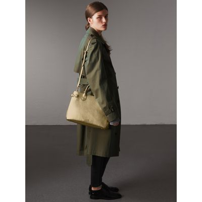 Burberry - Sac The Banner moyen en cuir et coton House check - 3