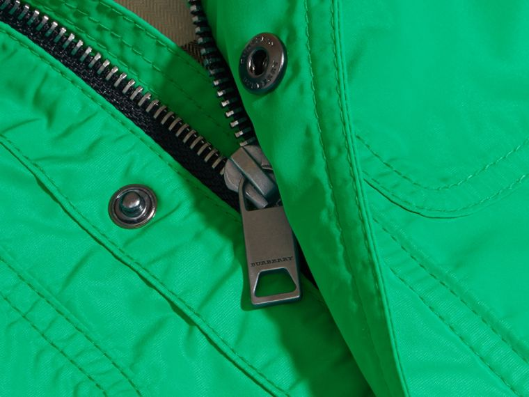 Hooded Field Jacket in Bright Green | Burberry - cell image 1