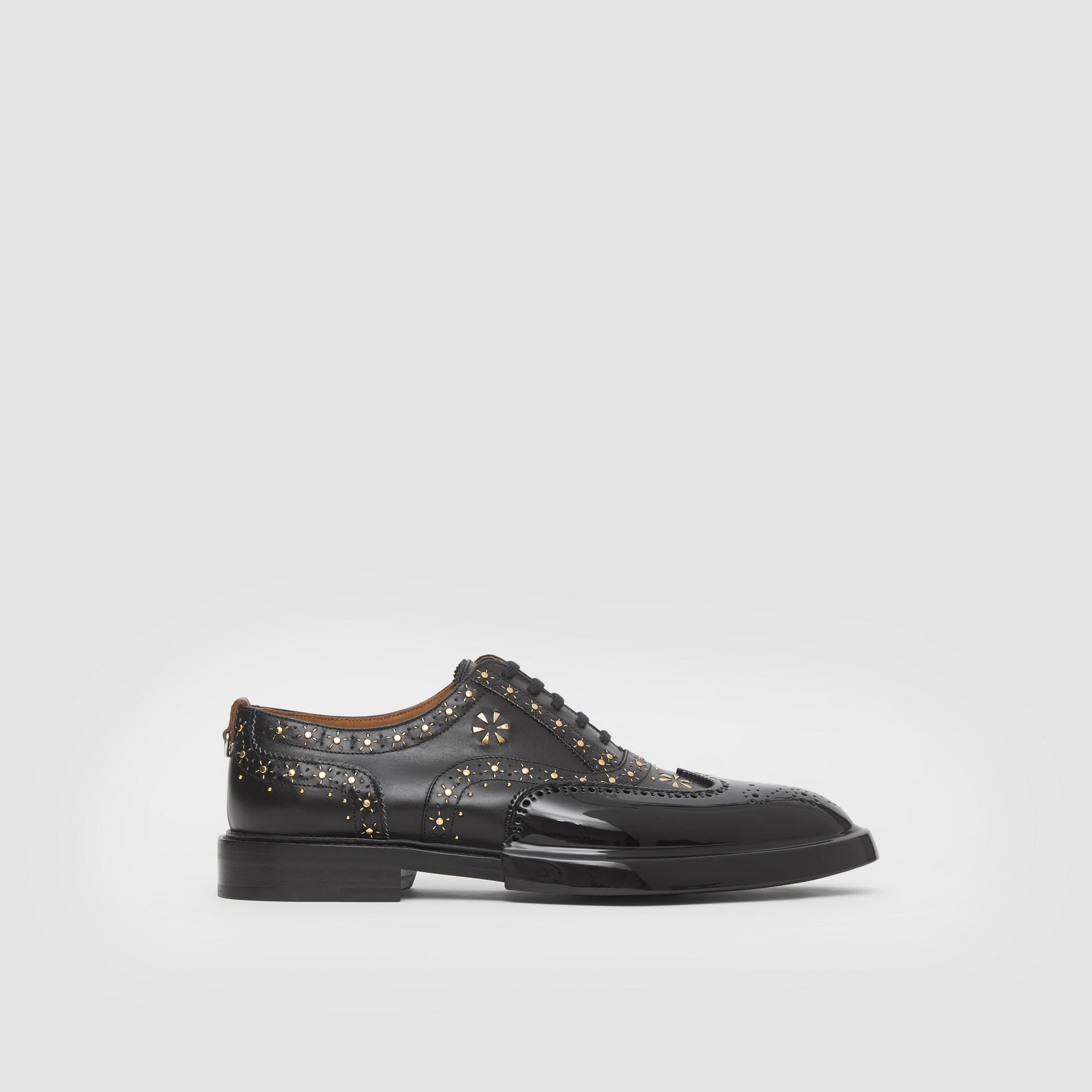 Toe Cap Detail Studded Leather Oxford Brogues in Black | Burberry Hong Kong S.A.R - gallery image 5