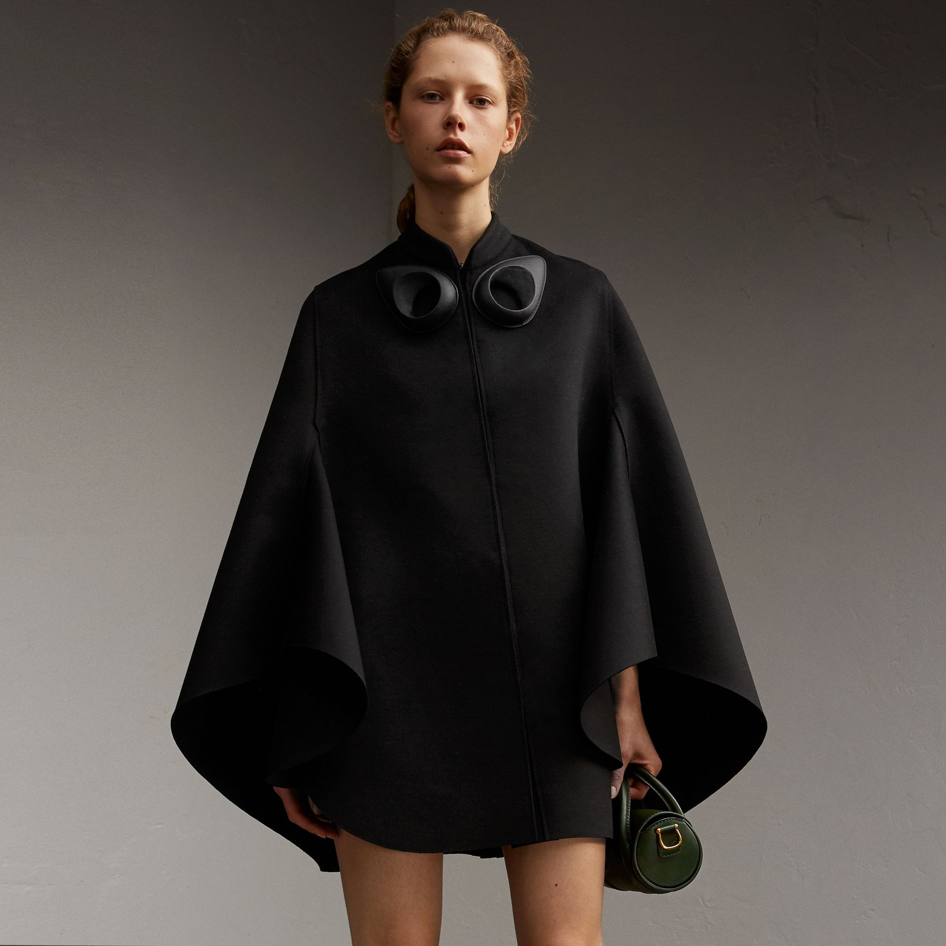 Double-faced Military Wool Cape - gallery image 1