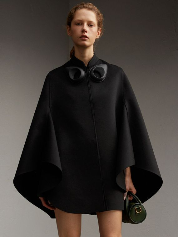 Double-faced Military Wool Cape - Women | Burberry Singapore