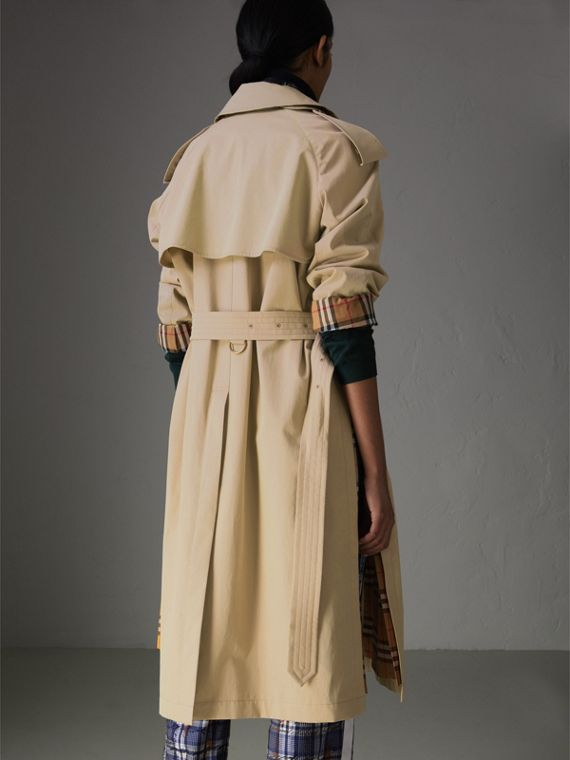 Side-slit Tropical Gabardine Trench Coat in Antique Taupe Pink - Women | Burberry United States - cell image 2