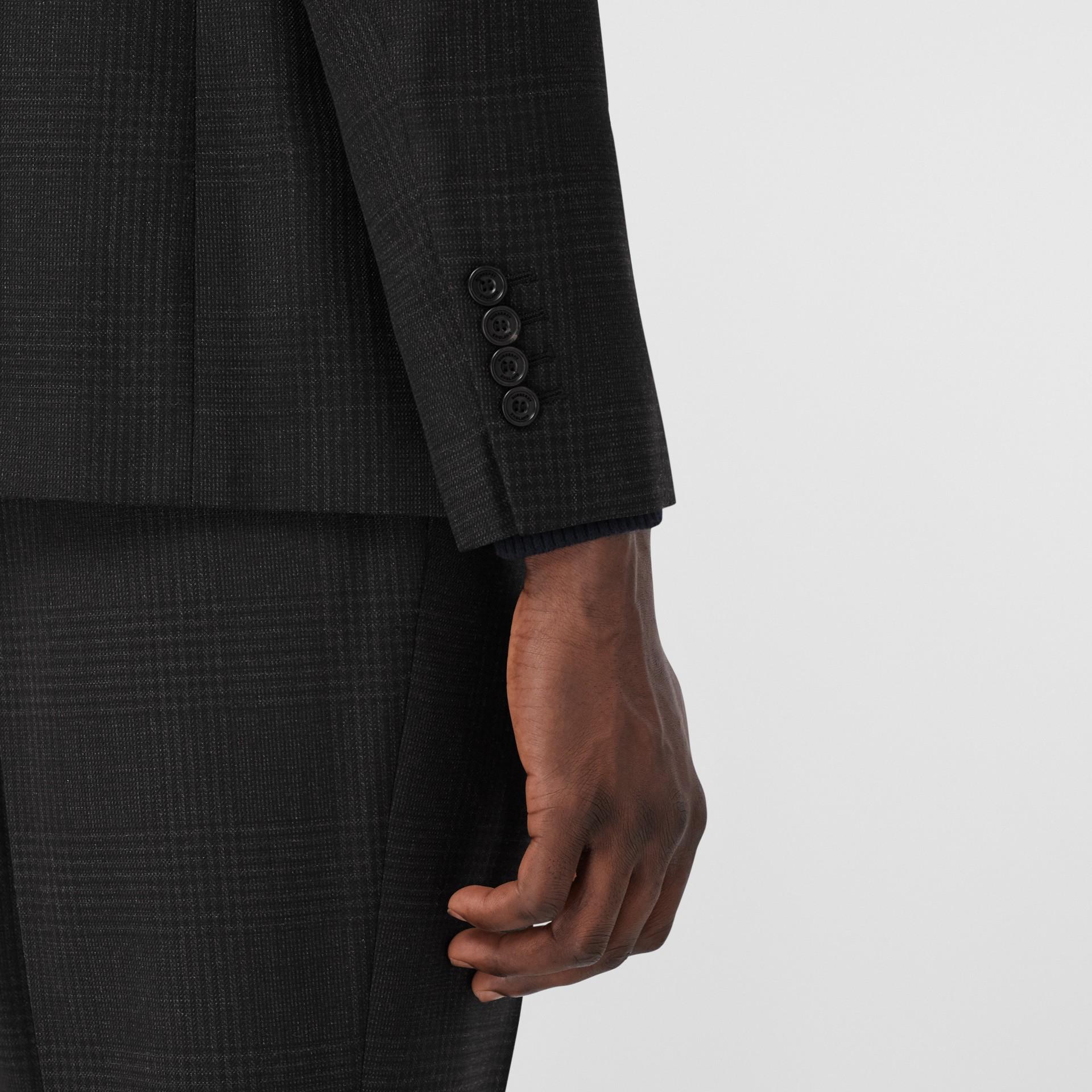 スリムフィット プリンス オブ ウェールズ チェック ウールスーツ (ダークグレー) - メンズ | バーバリー - ギャラリーイメージ 4