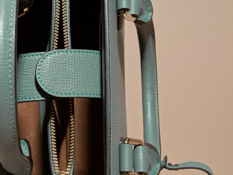 Smokey green The Small Saddle Bag in Grainy Bonded Leather Smokey Green - cell image 4