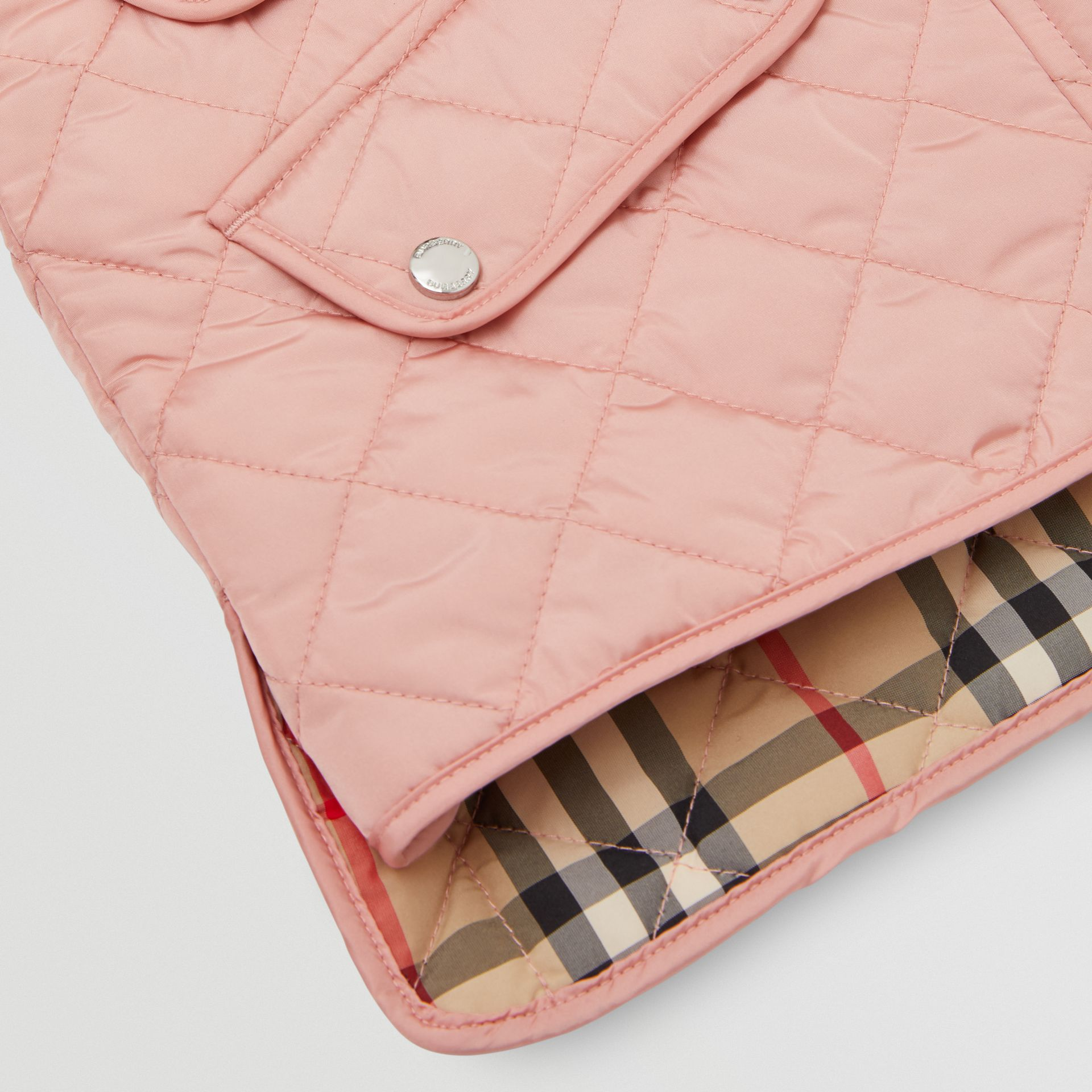 Lightweight Diamond Quilted Jacket in Dusty Pink | Burberry - gallery image 1