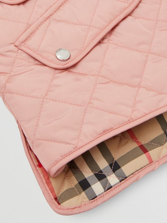 Lightweight Diamond Quilted Jacket in Dusty Pink | Burberry - cell image 1
