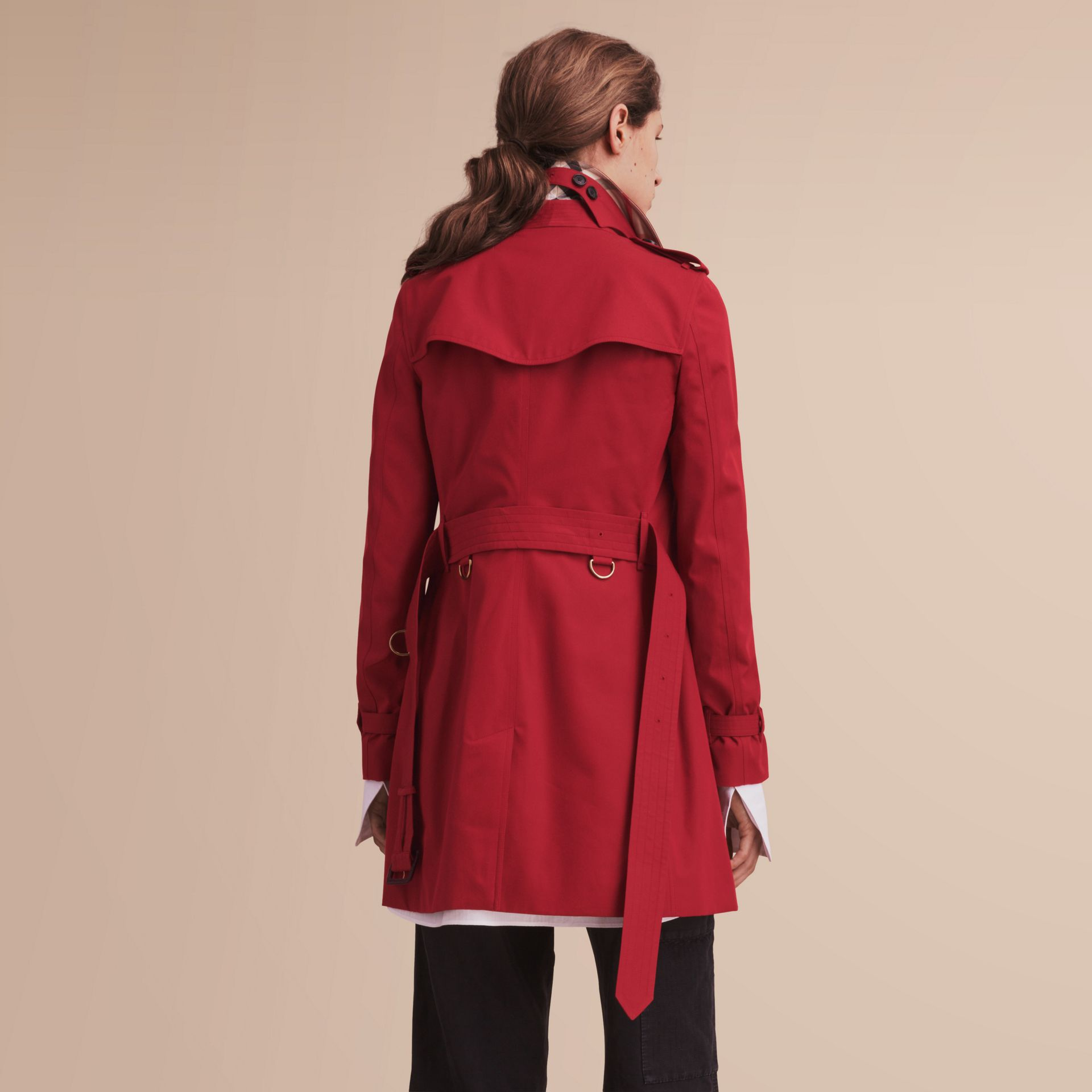 The Kensington – Mid-Length Heritage Trench Coat in Parade Red - gallery image 3