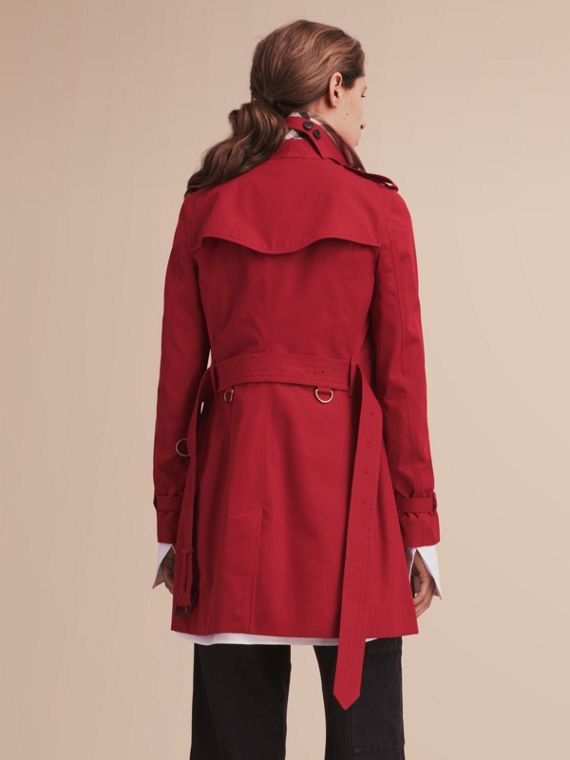 Trench coat Kensington - Trench coat Heritage de longitud media Rojo Desfile - cell image 2