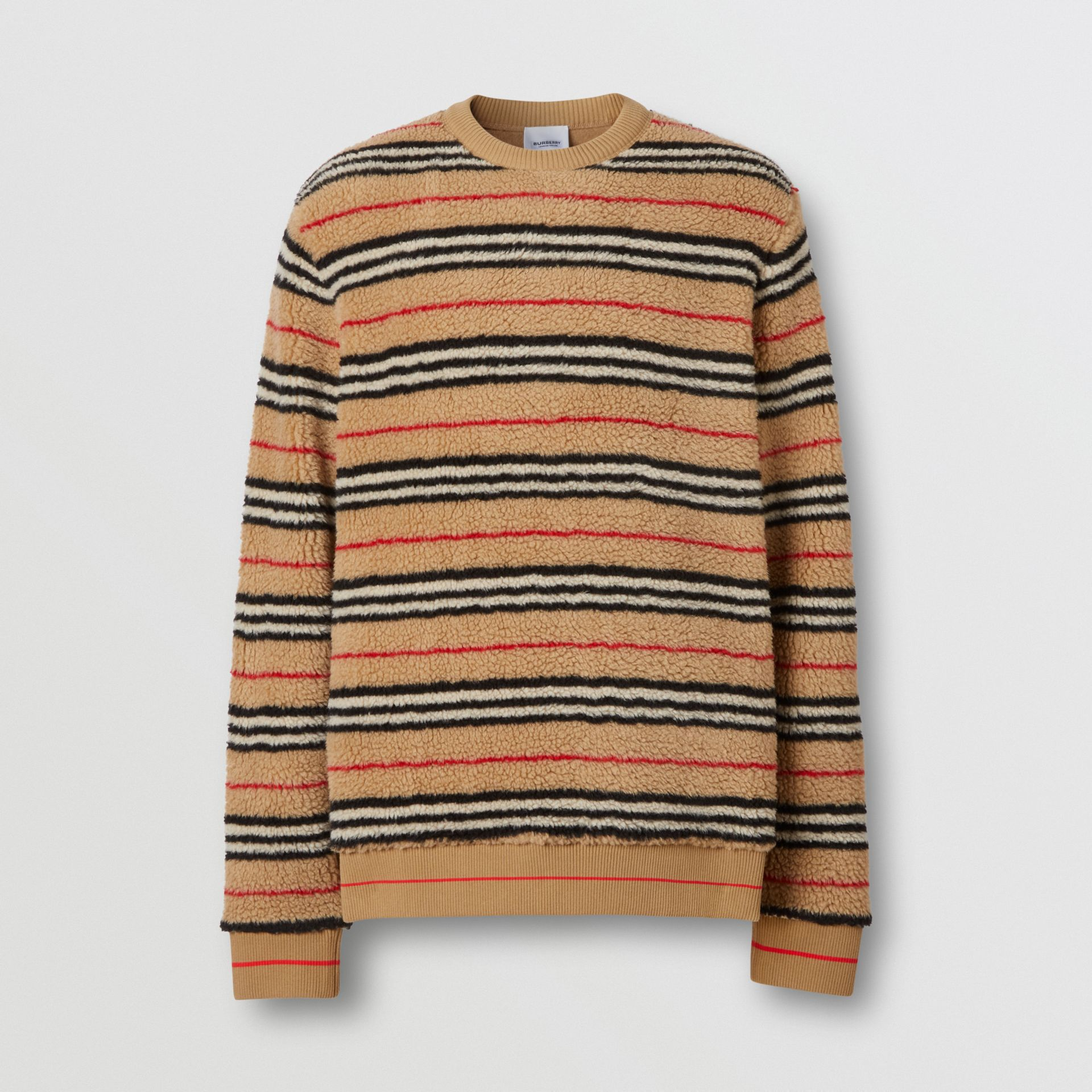 Icon Stripe Fleece Sweatshirt in Archive Beige - Men | Burberry - gallery image 3