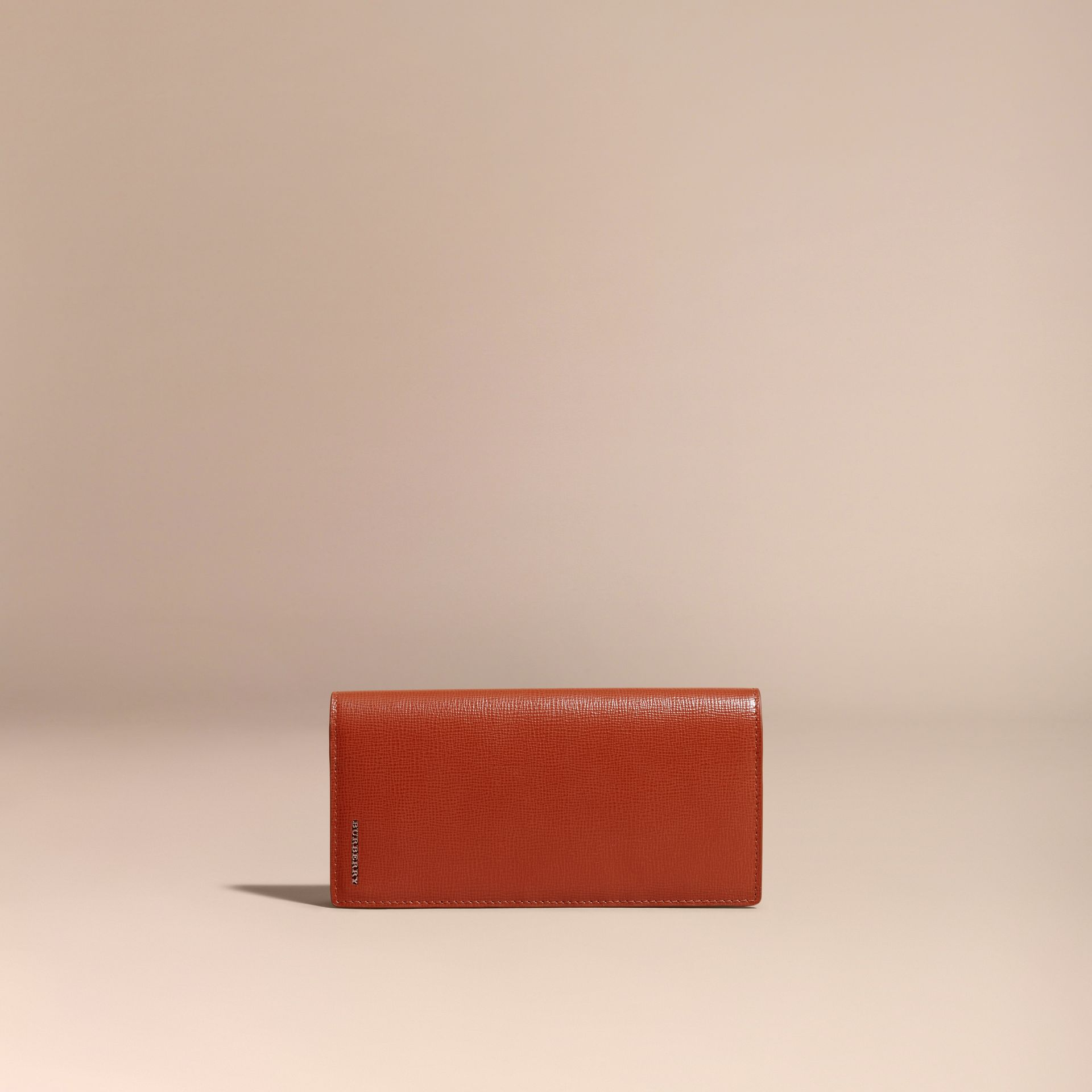 London Leather Continental Wallet Burnt Sienna - gallery image 6