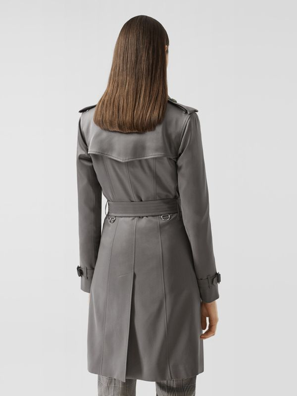 Silk Trench Coat in English Grey - Women | Burberry Singapore - cell image 2