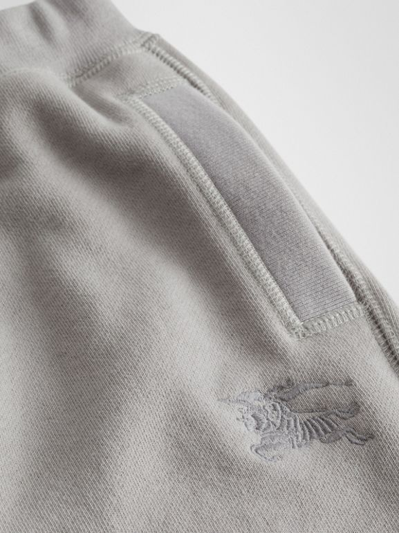 Cotton Jersey Trackpants in Chalk Grey Melange | Burberry - cell image 1