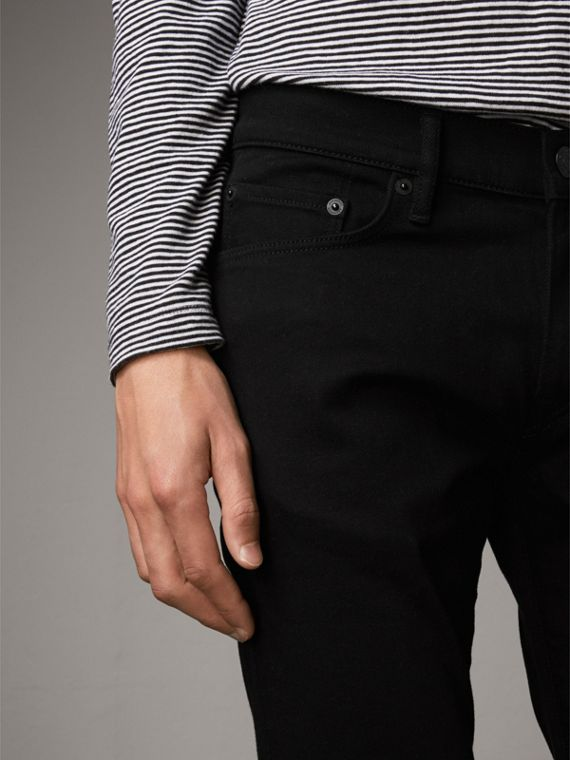 Slim Fit Stretch-denim Jeans - Men | Burberry - cell image 3