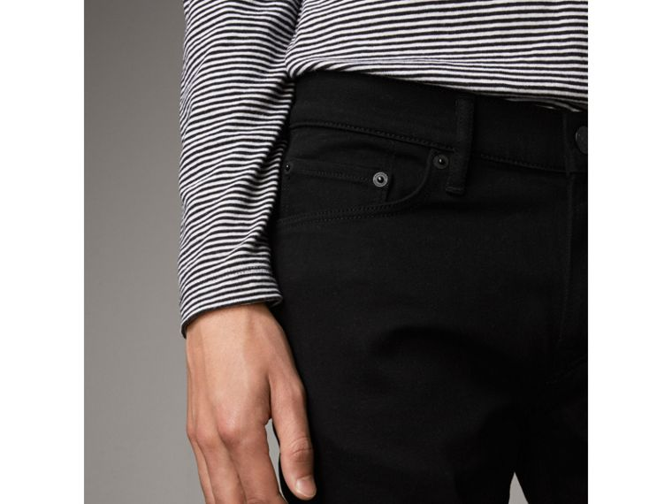 Slim Fit Stretch-denim Jeans in Black - Men | Burberry Australia - cell image 4