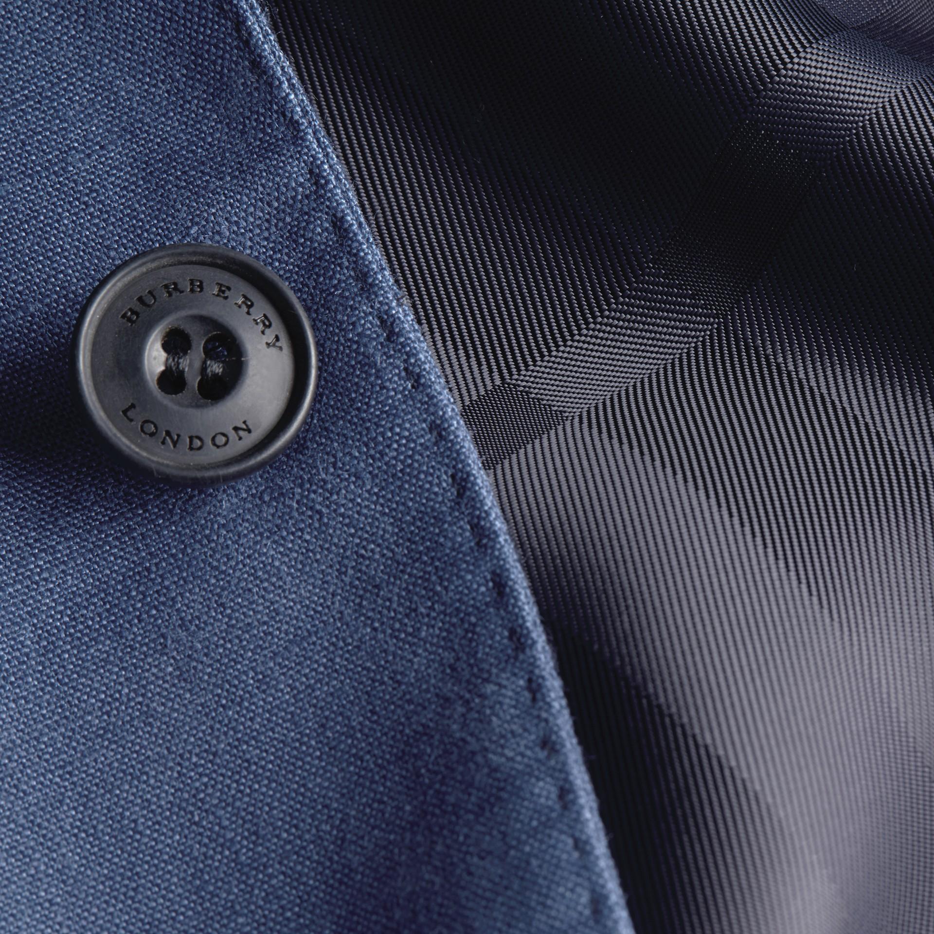 Bleu acier vif Veste ajustée moderne en lin - photo de la galerie 7