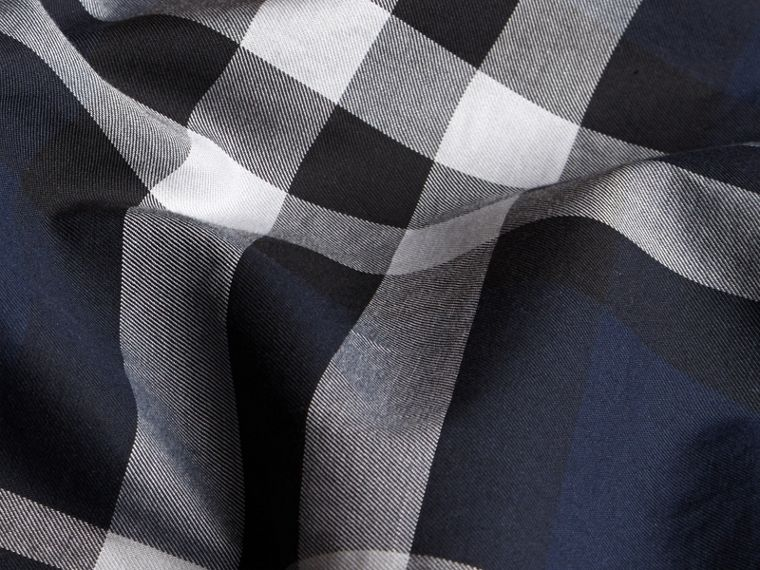 Navy check Check Twill Cotton Boxer Shorts Navy - cell image 1